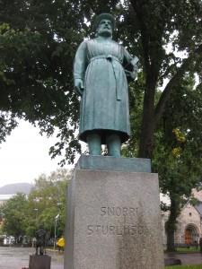 Statue of Snorri Sturluson in Bergen